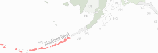 Aleutians West Census Area County Map
