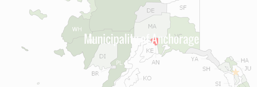 Municipality of Anchorage Borough County Map