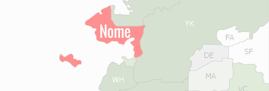 Nome Census Area County Map