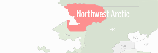 Northwest Arctic Borough County Map